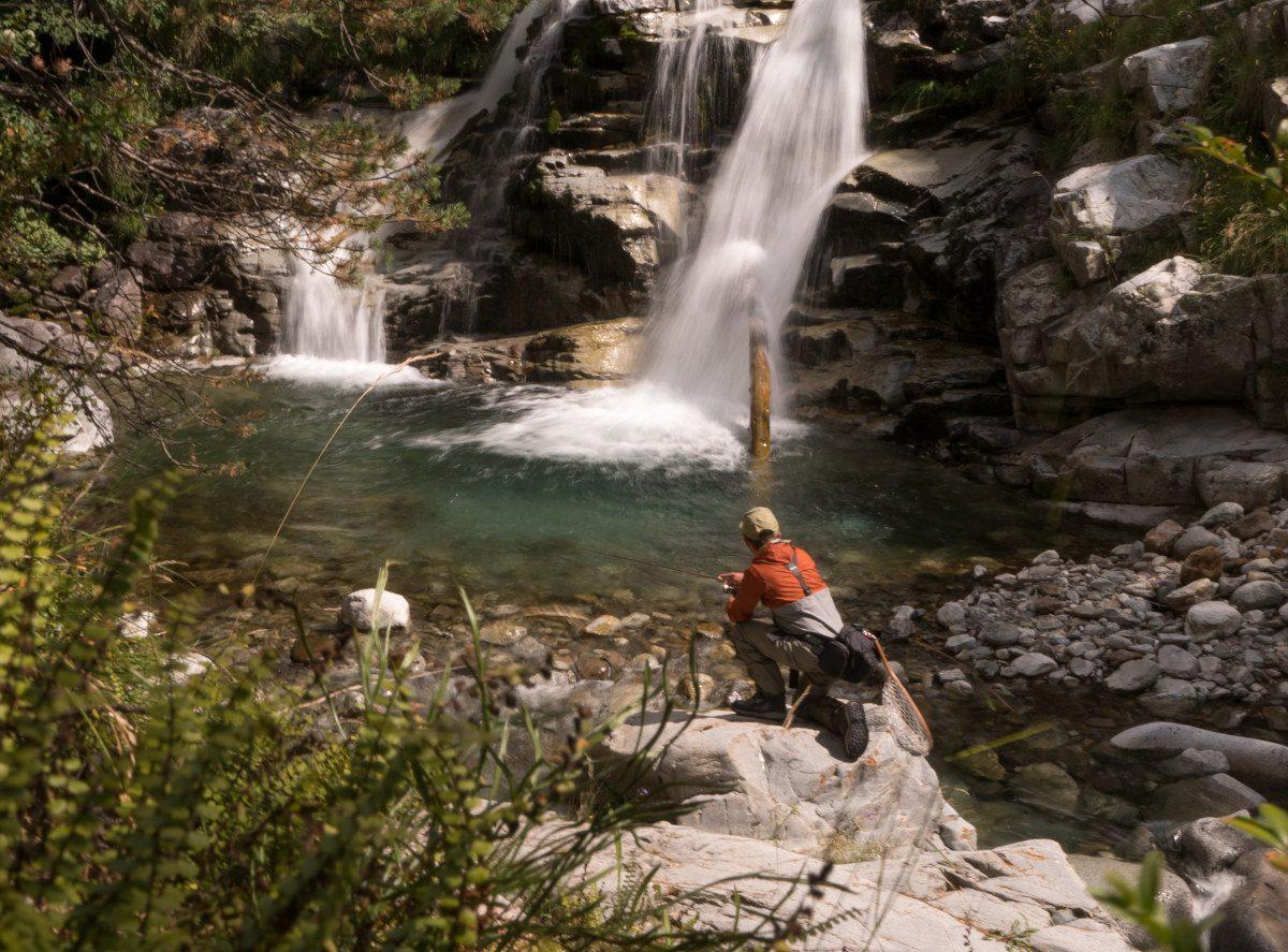 Pêche Aragon cascade